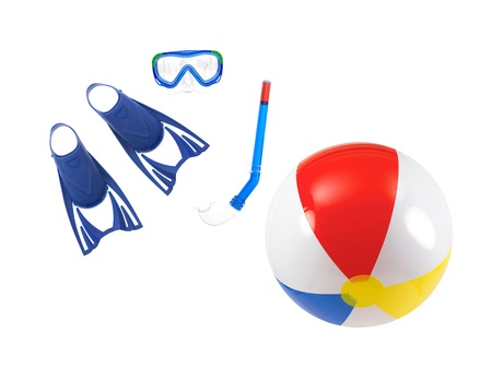 Swimming gear isolated against a white background Stock Photo - 13657104