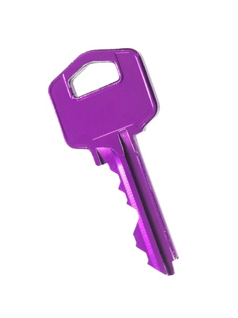 unsubscribe: Household colred keys isolated against a white background