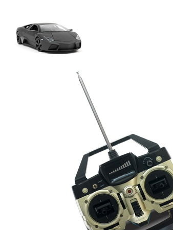 Remote control vehicles isolated against a white background photo