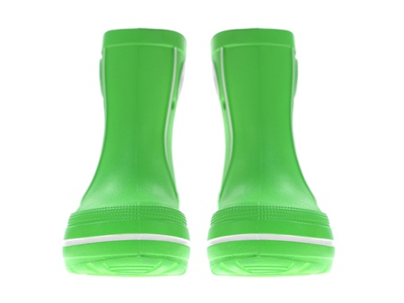 Gum Boots isolated against a white background photo