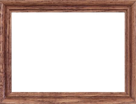 frame wood: A close up shote of a vintage wooden photo frame