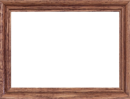 marco madera: Un cierre para arriba Shote de un marco de madera Foto de la vendimia Foto de archivo