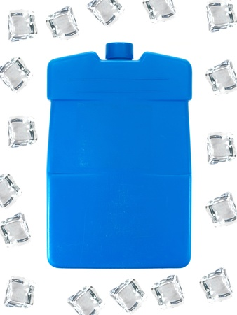 An ice pack isolated against a white background photo