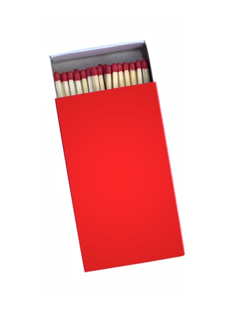 Wooden matches isolated against a white background photo