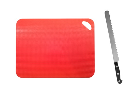 A close up shot of a plastic chopping board Stock Photo - 14231022
