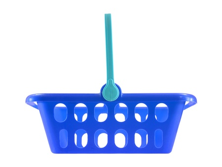 A shopping basket isolated against a white background photo