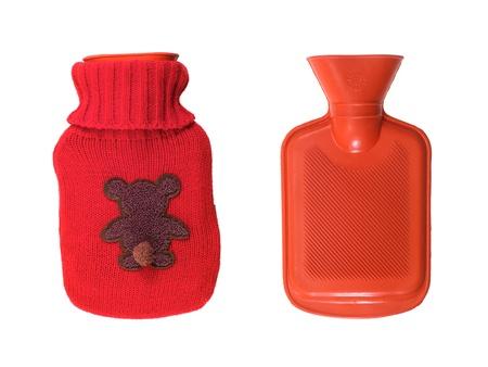 w�rmflasche: Eine W�rmflasche vor einem wei�en Hintergrund isoliert Lizenzfreie Bilder