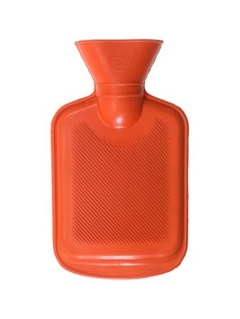 wärmflasche: Eine Wärmflasche vor einem weißen Hintergrund isoliert Lizenzfreie Bilder