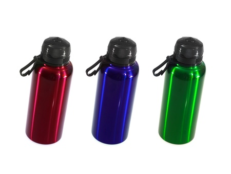 A sports drink bottle isolated against a white background photo