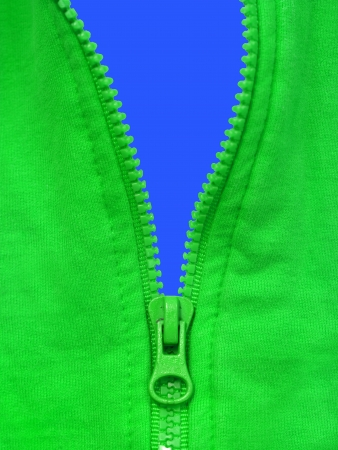A close up shot of a zipper photo