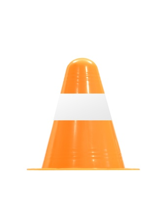 Traffic cones isolated against a white background photo