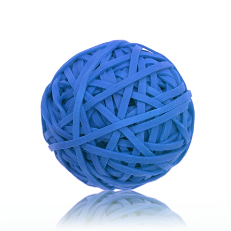 A rubber ball made from rubber bands photo