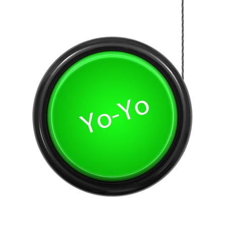 play yoyo: A toy yoyo isolated against a white background
