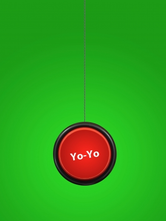 A toy yoyo isolated against a white background photo