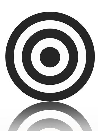 A target isolated against a white background photo
