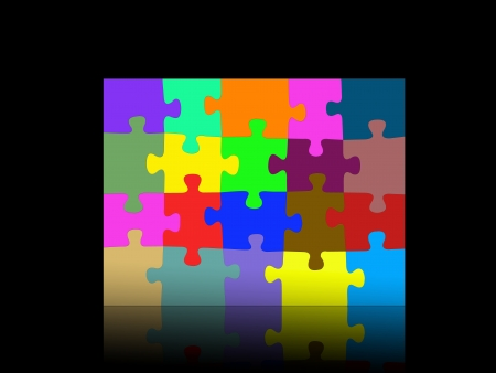 solved: Jigsaw illustrations isolated against a white background