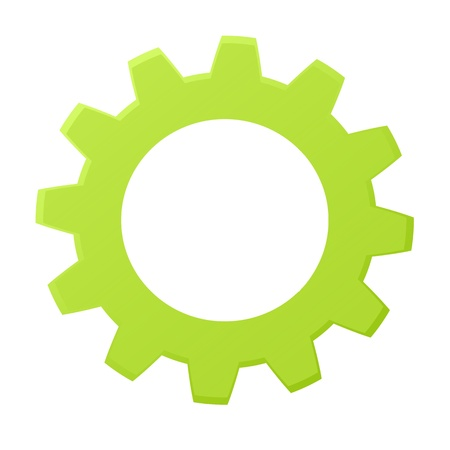 yellow teeth: Rendered gears isolated against a white background Stock Photo