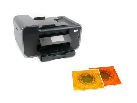 A multi function printer isolated against a white background photo