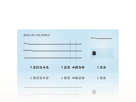 A close up shot of a business bank cheque photo