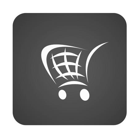 Un botón de comercio electrónico aislado sobre un fondo blanco