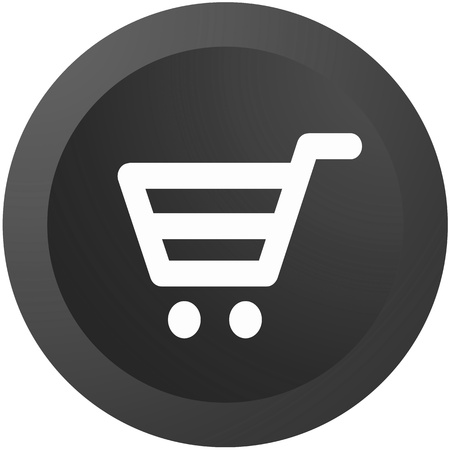 An ecommerce button isolated against a white background photo