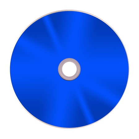 optical disk: Compact discs isolated against a white background Stock Photo