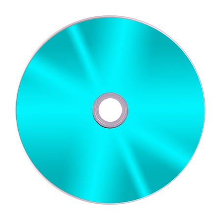Compact discs isolated against a white background photo