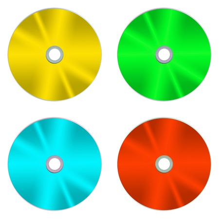 cd r: Compact discs isolated against a white background Stock Photo