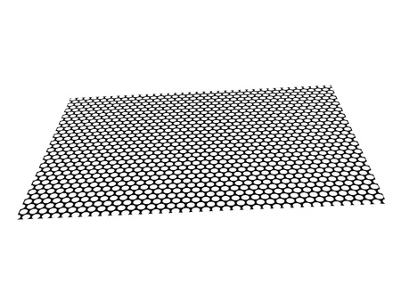 Metal mesh plating isolated against a white background Stock Photo - 15692124