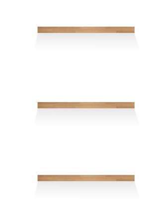 shelve: A wooden book shelve isolated against a white background
