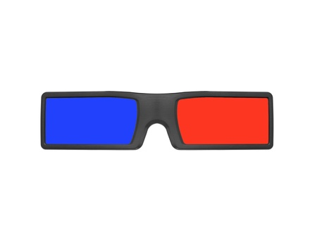 stereoscope: 3D glasses isolated against a white background