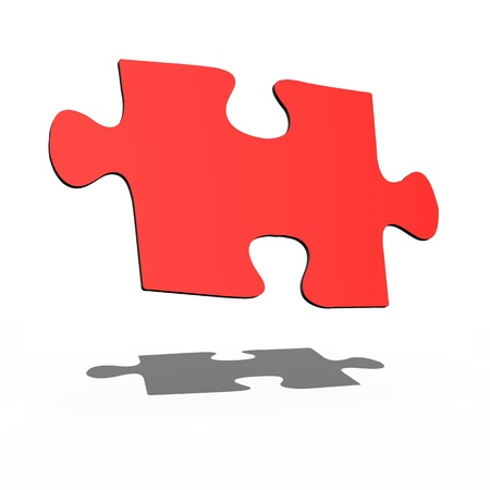 Jigsaw illustrations isolated against a white background illustration