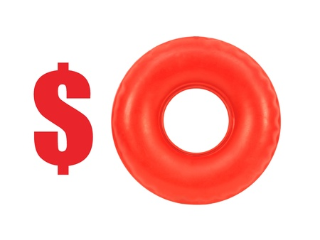 A conceptual money image on a white background Stock Photo - 15906742