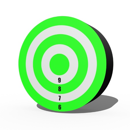 A 3d target isolated against a white background photo