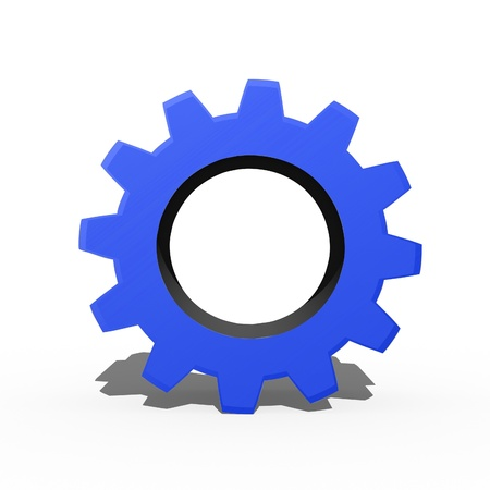 machined: 3d gears isolated against a white background Stock Photo