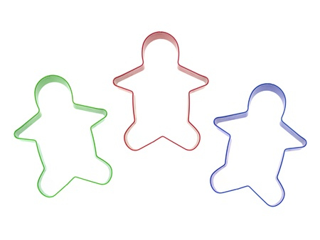 A cookie cutter isolated against a white background photo
