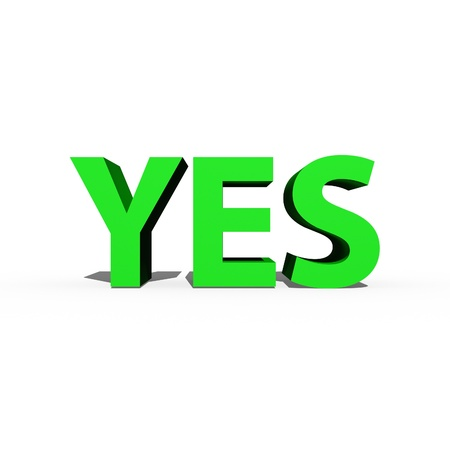Yes and no signs isolated against a white background Stock Photo - 16231111
