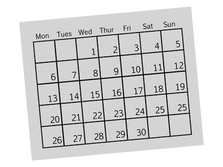 A close up shot od a contempory calendar