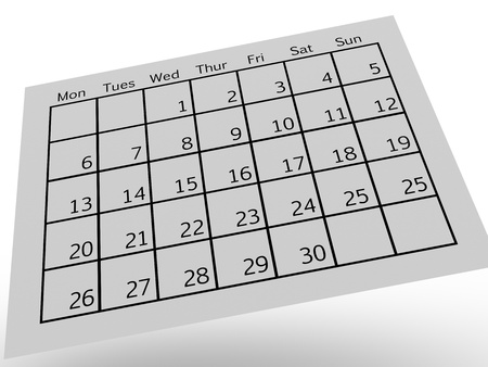 contempory: A close up shot od a contempory calendar