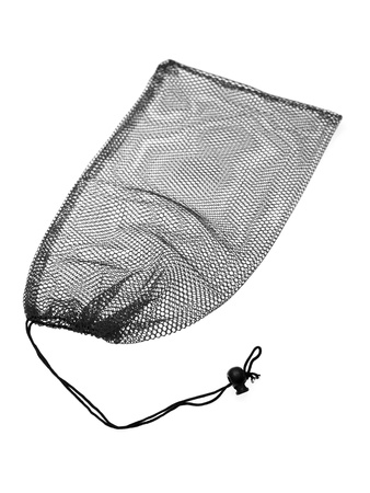 A close up shot of fish net bag photo