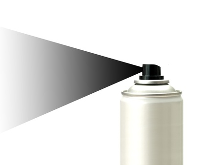Aerosol spray cans isolated against a white background photo