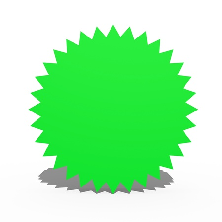A 3d multi point star on a white background Stock Photo - 17122981