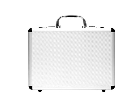 A metal briefcase isolated against a white background Stock Photo - 17198247