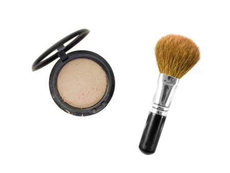 Make up items isolated against a white background photo