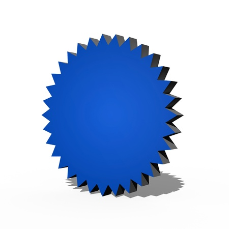 A 3d multi point star on a white background Stock Photo - 17305021