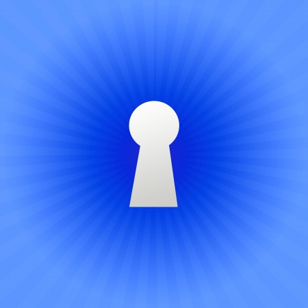 A keyhole isolated against a black background Stock Photo - 17456050
