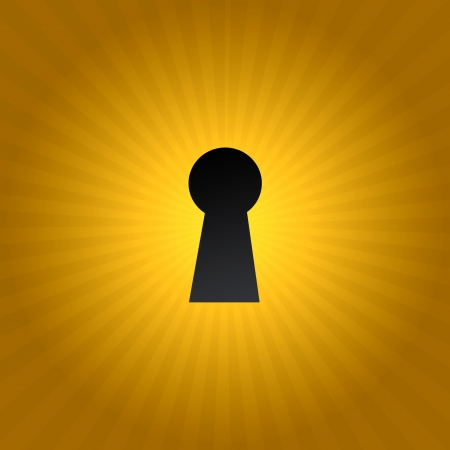 A keyhole isolated against a black background Stock Photo - 17456048
