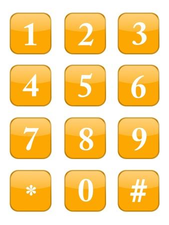 A modern keypad layout isolated on white Stock Photo - 17456092