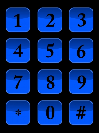 A modern keypad layout isolated on white Stock Photo - 17456083