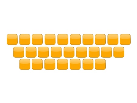A plastic keyboard against a white background Stock Photo - 17456056